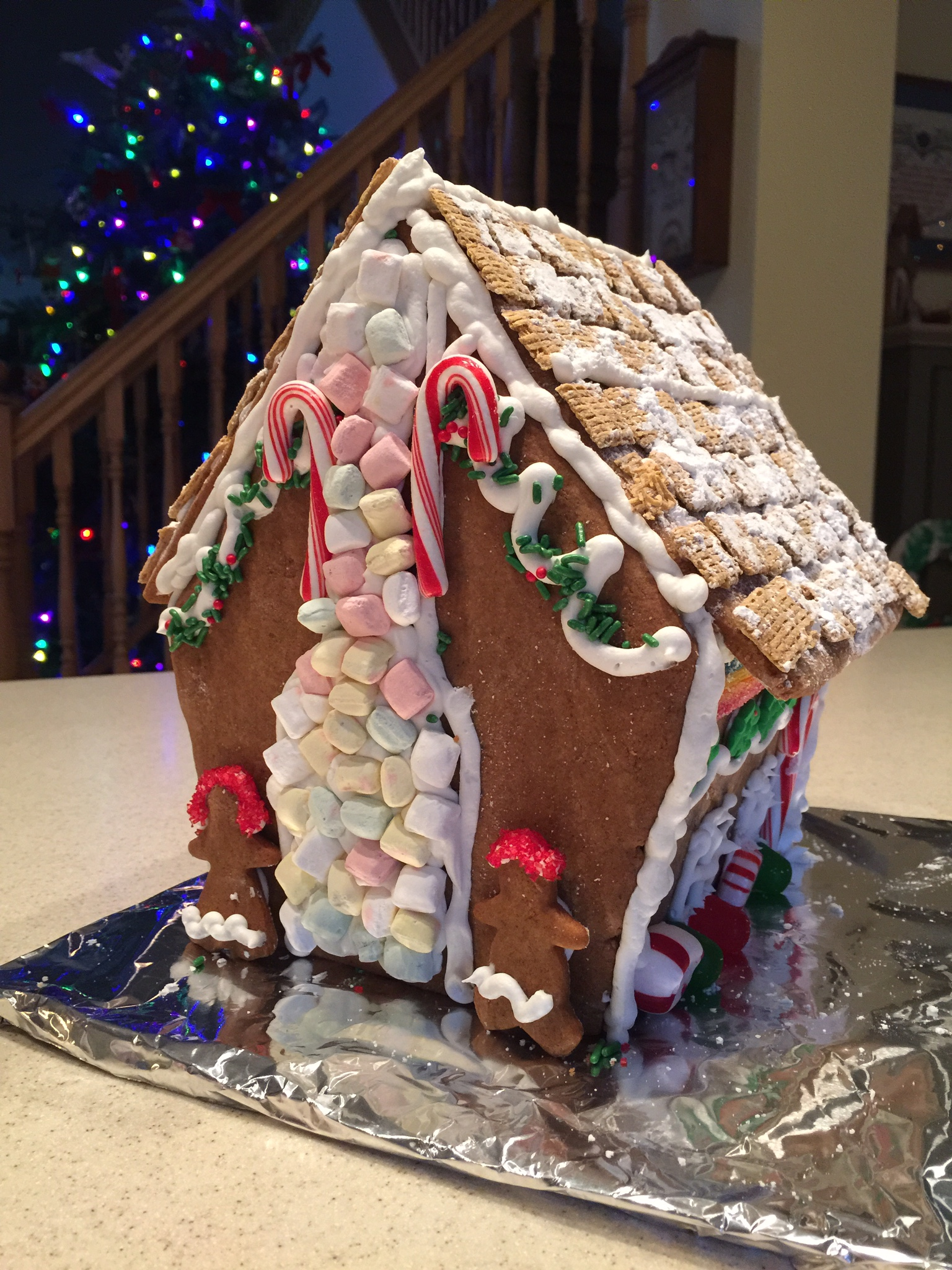 Meg and I had fun making a gingerbread house together.
