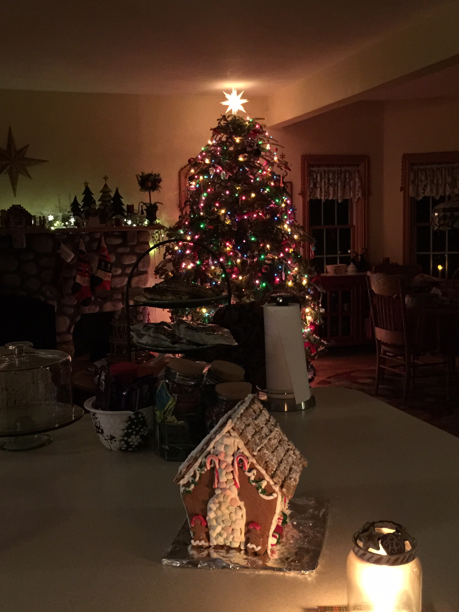I was lamenting that I did not want to take down the tree and decorations the next day... it was sooo beautiful at night.