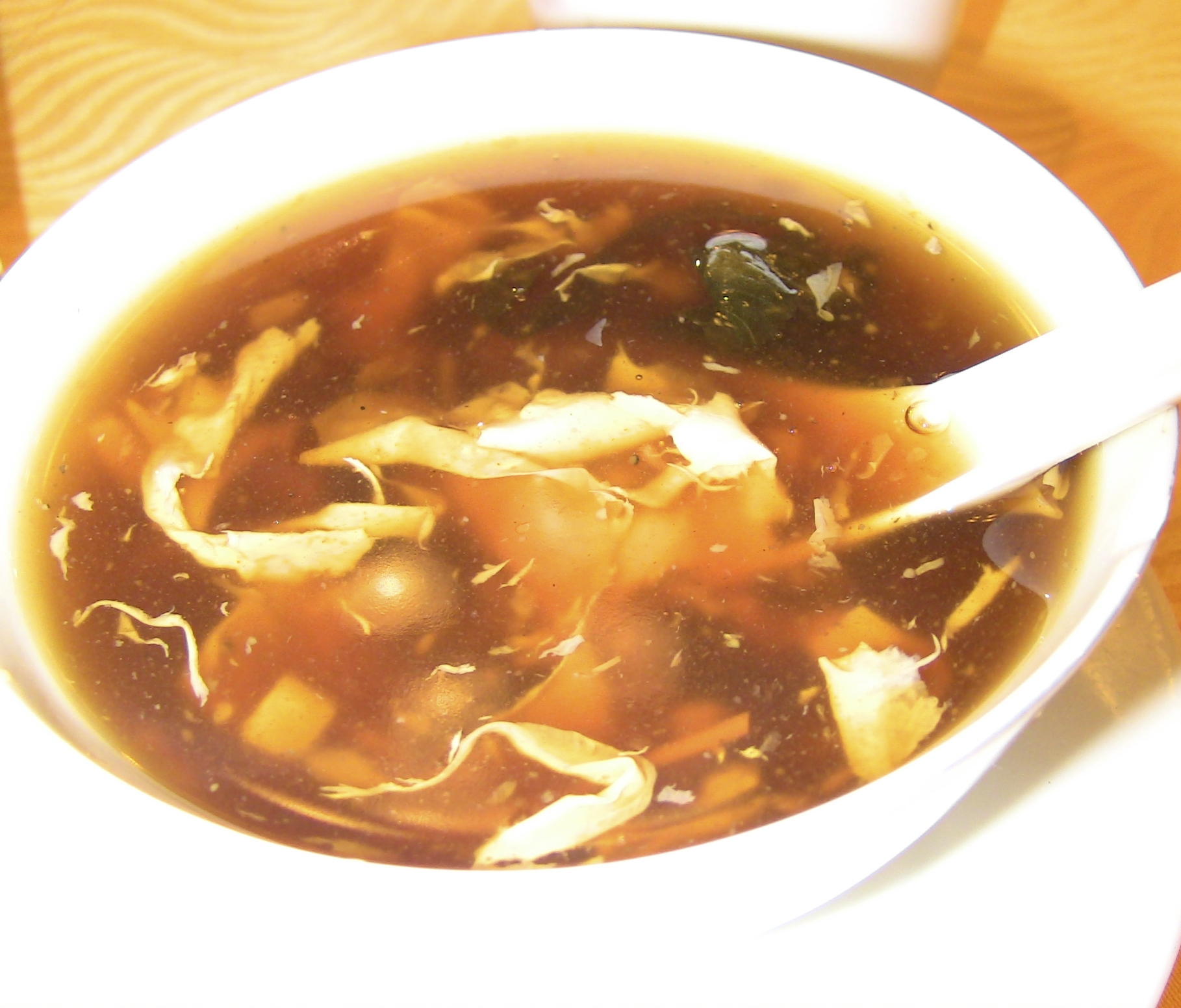 This is a soup that I was not able to try because it was explained to me after I ordered it that it had certain ingredients - which I shall not name - that completely wigged me out.  Ha ha!
