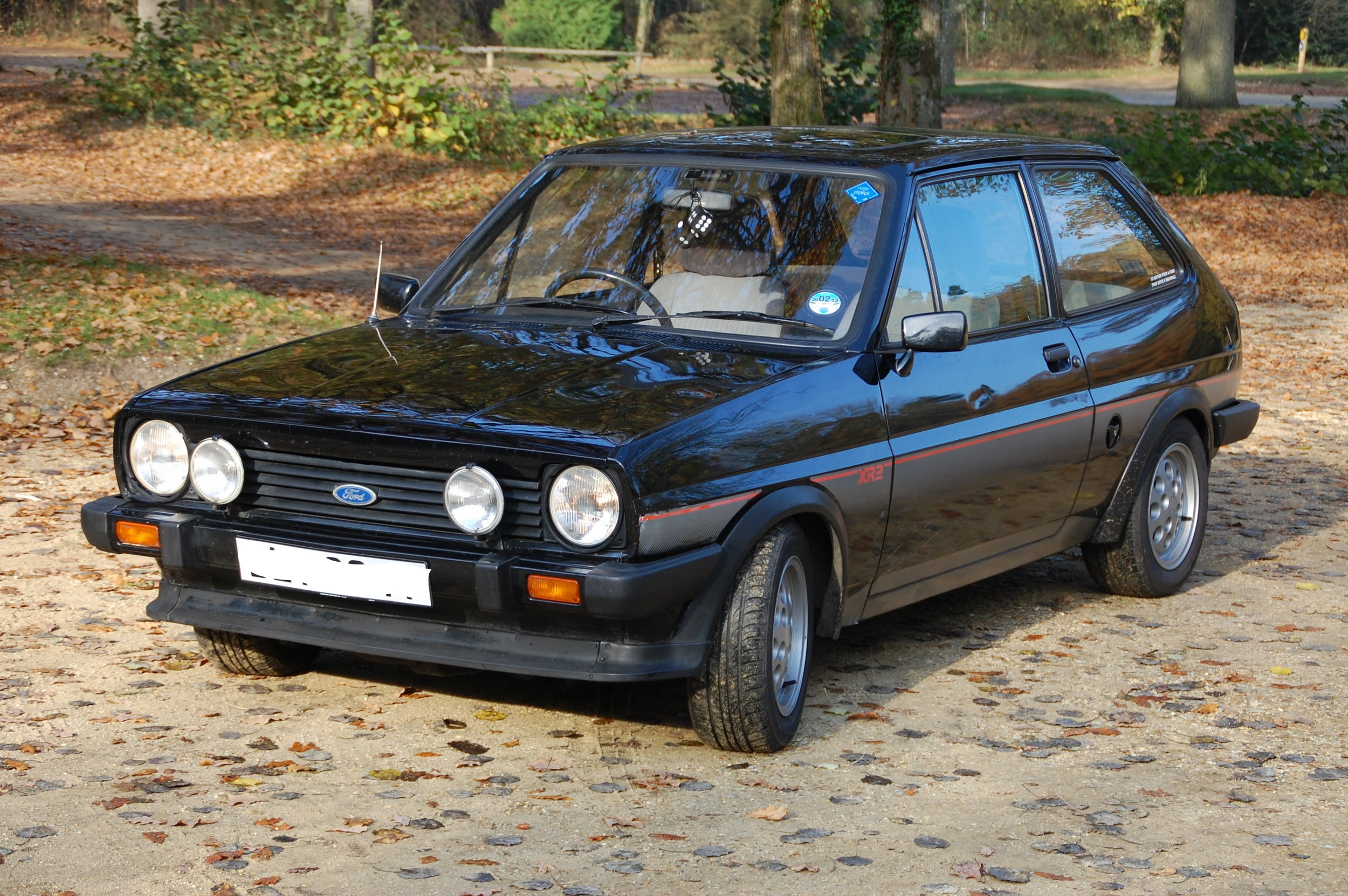 Marcus's first car. Ford Fiesta XR2. Marcus's Fiesta was a different color, but the body was the same.