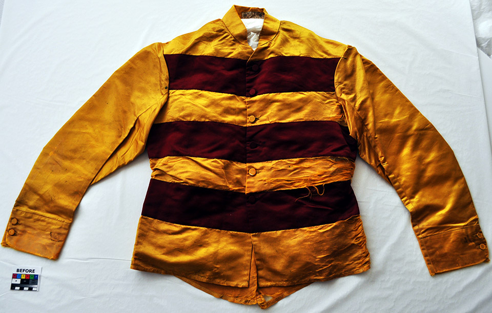 Jacket, before treatment
