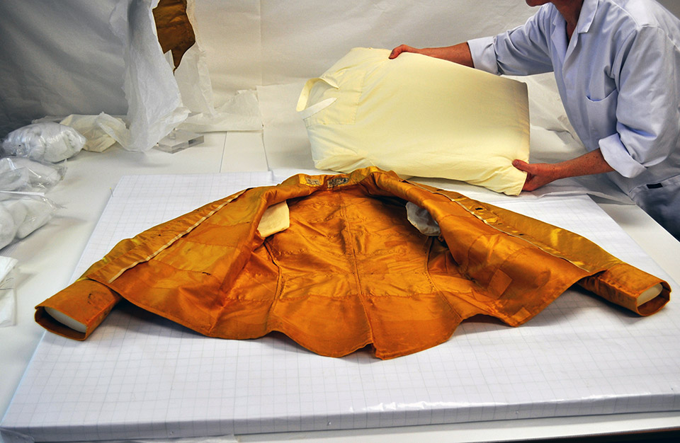 A padded form was customised for the jacket