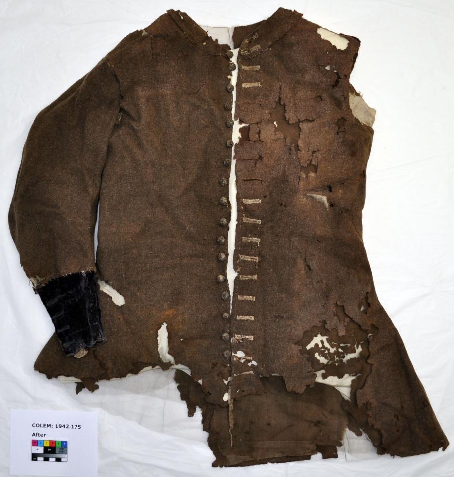 Original coat, after treatment