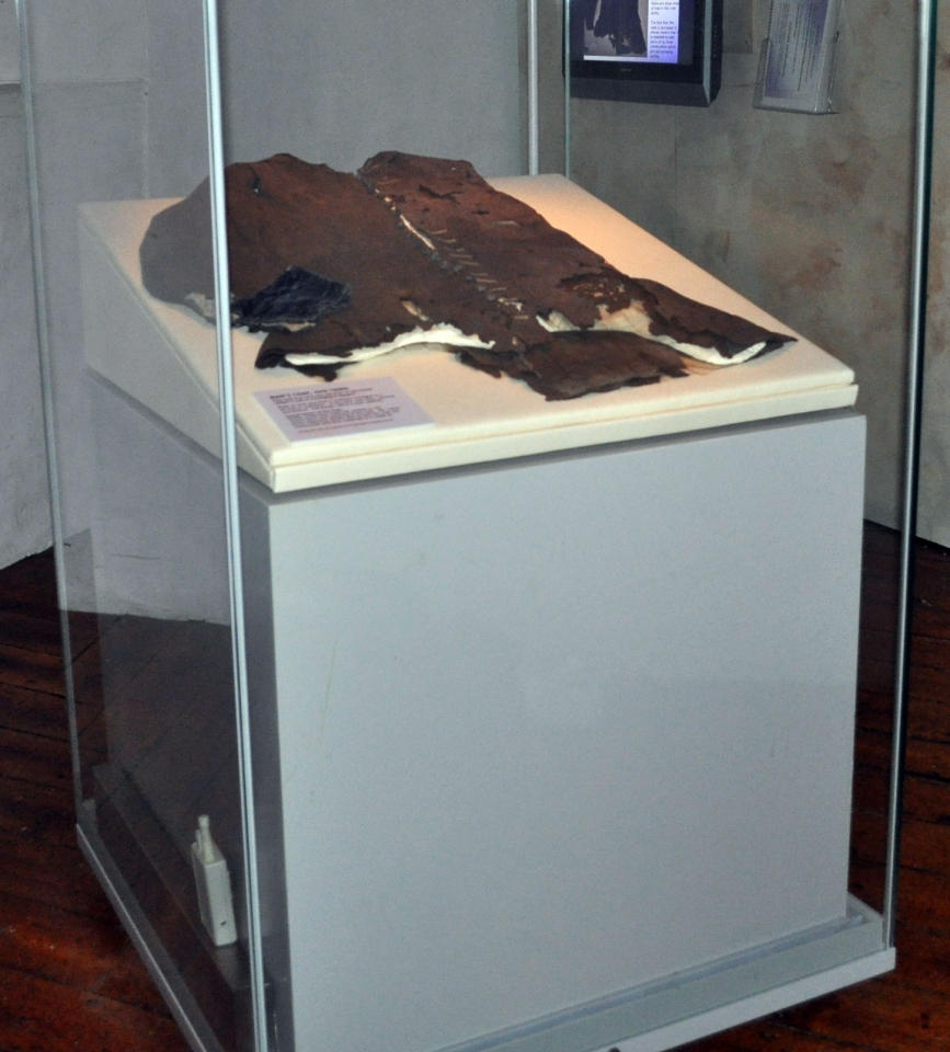 Original coat, after treatment and on display