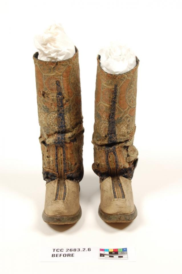 boots, before conservation