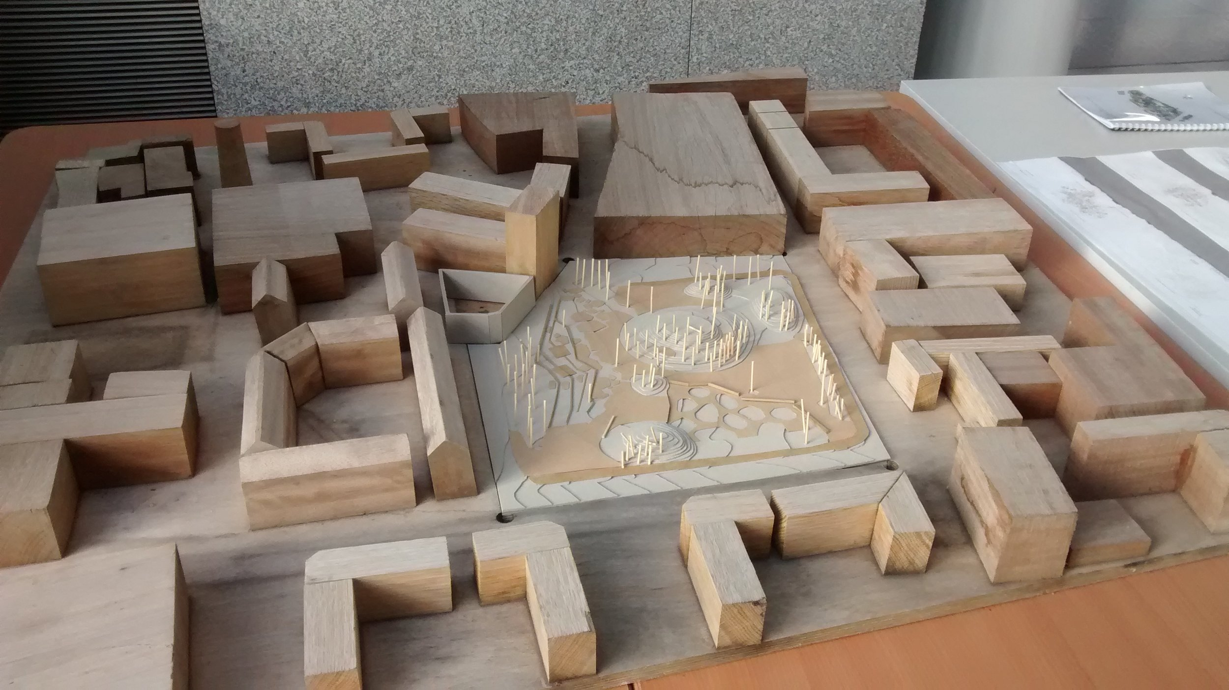 Area model in a safe space @ DCC offices   Made by NCAD students with support from Bridgefoot street park campaigne