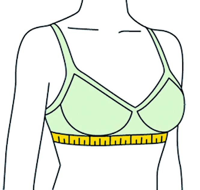 How to measure for the correct bra size.
