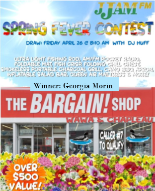 Bargain Shop spring Contest-April 26 2019