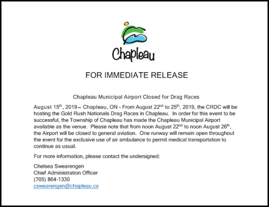 8.15.2019 CHAPLEAU AIRPORT NOTICE DRAG RACES.png
