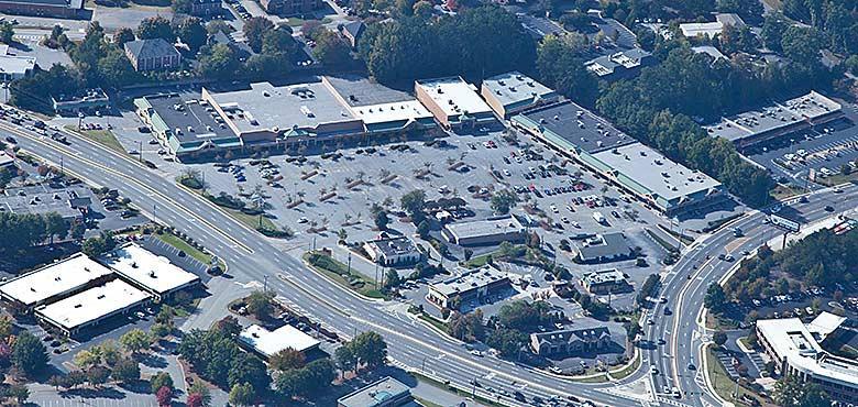 Roswell Village Shopping Center pre-development