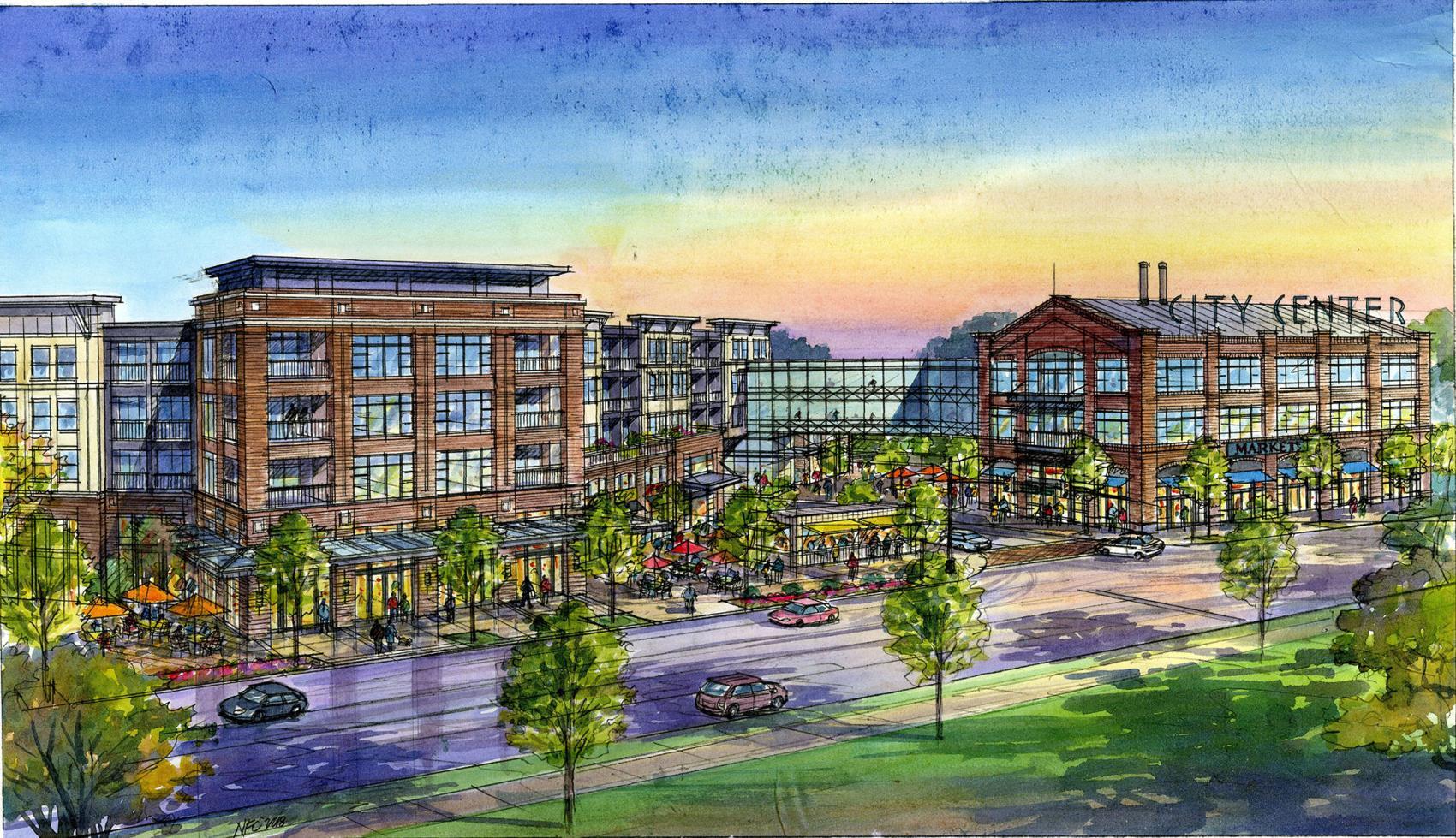 SJ Collins rendering of Southern Skillet Plaza