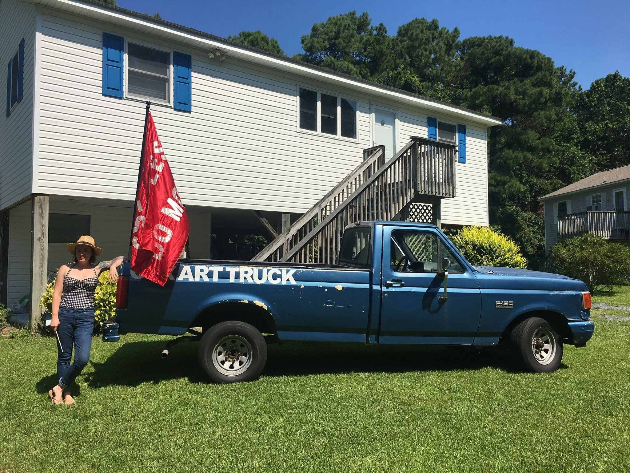 JAck w truck at house.jpg