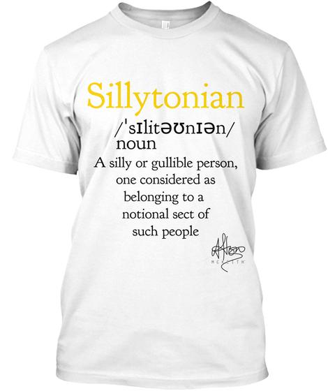 Sillytonian -£25.00 - 100% ORGANIC COTTON