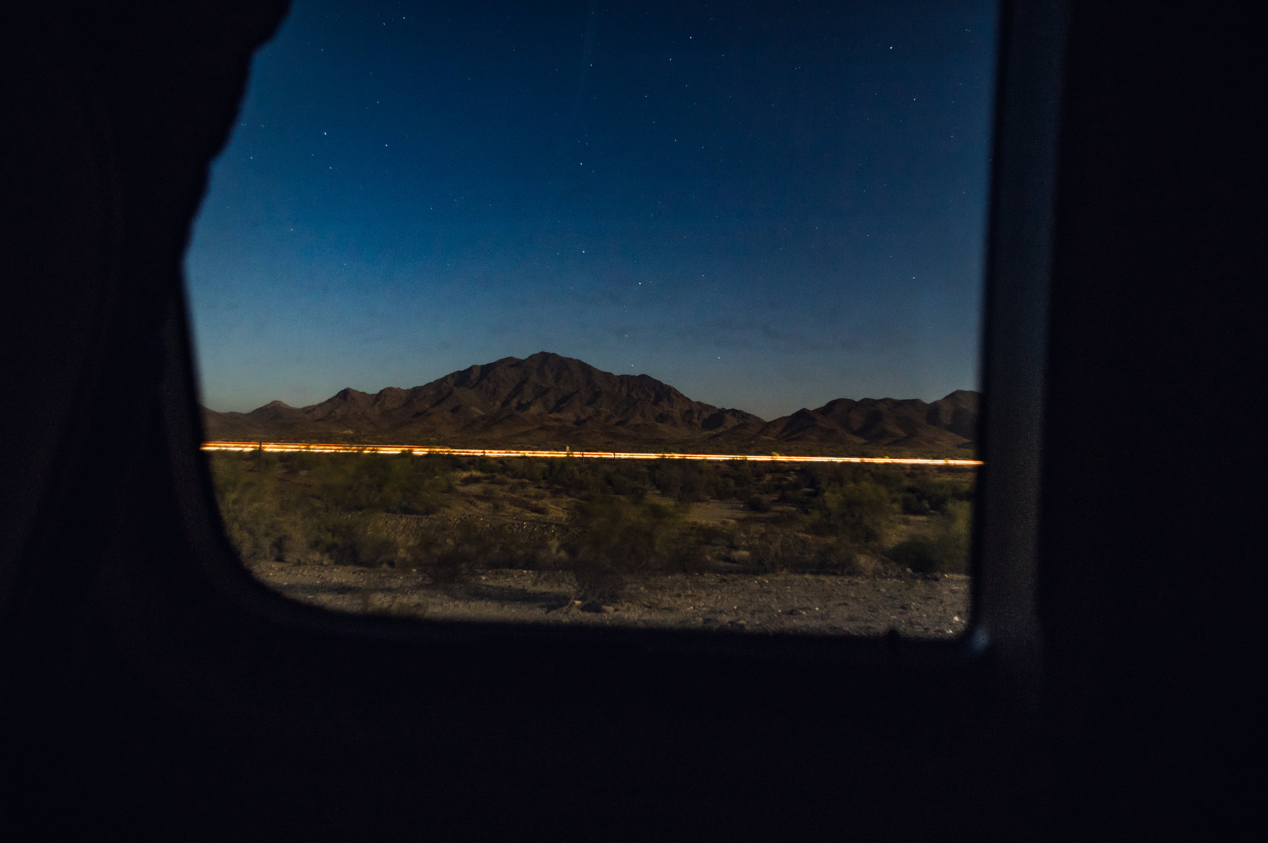 BLM Quartzsite - nighttime is the best time