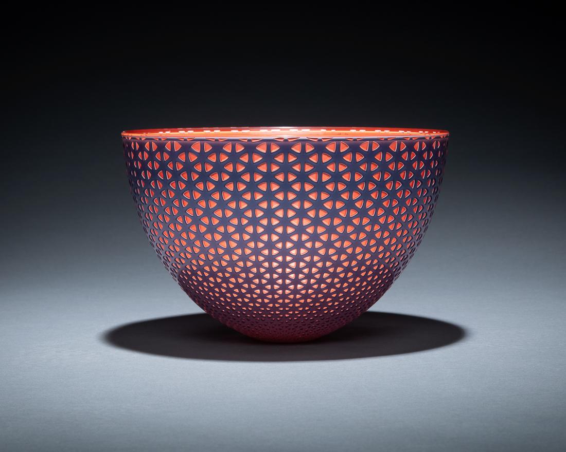 "Lattice Bowl - Dusk  10 x 6""  $5,000.00"