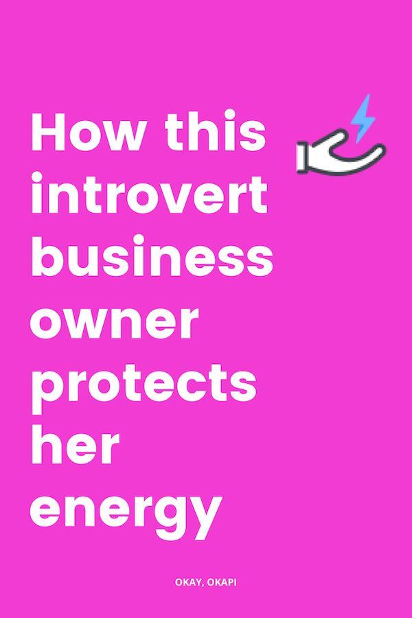 Running a business as an introvert is hard. In this week's post, I share some strategies  I've used to protect my energy as an introvert running a business. #introvert #businessowner #businesstips #selfcare