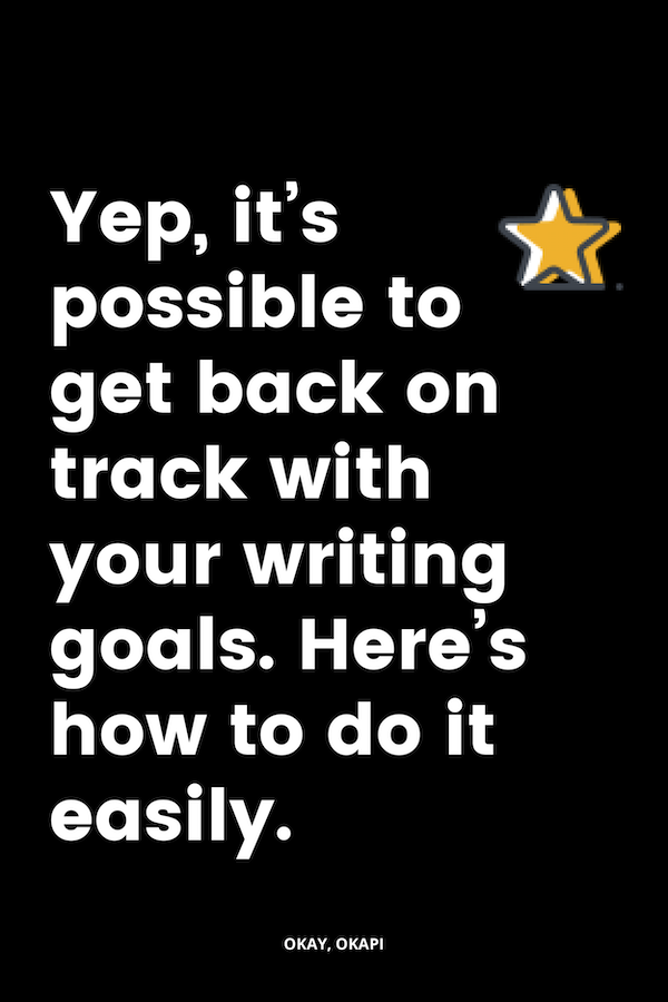 It's really easy to get off track with your goals – big and small. Life has a way of well, getting in the way. In this blog post, I share you four quick things you can do to make progress on your writing goals right away…so you don't let 2019 slip by without tackling even the tiniest sliver of your goals.