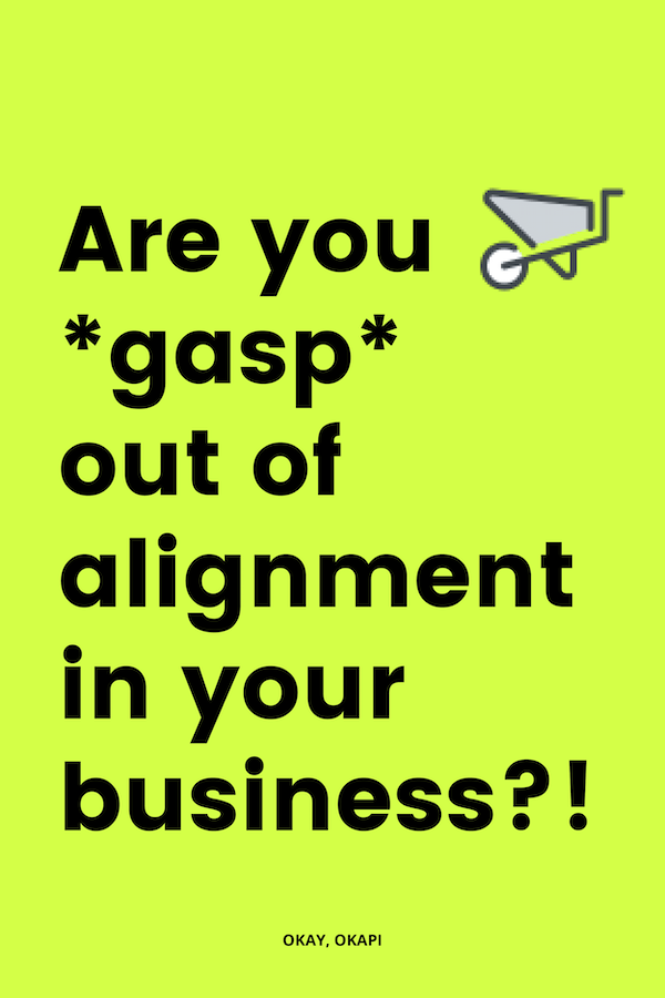 It might be woo woo, but it's serious, boo. If you're out of alignment in your business, things are going to be so much harder. Instead of beating yourself up and trying to fix something that's not working, it's time to check in to see where you're out of alignment. This blog post will help you see four signs that you might not be headed down the right path. #businesstips #businessmindset #solopreneur