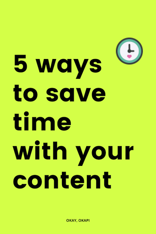 Is your weekly content creation outta control? Does it take you six hours to write one blog post? Yeah, creating your weekly content can be kind of a time suck. But there are really easy ways to save time with your content creation, starting with the five I talk about in this blog post.