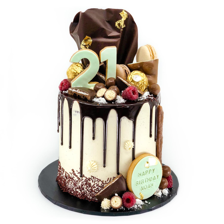 Mint slice 21st birthday cake