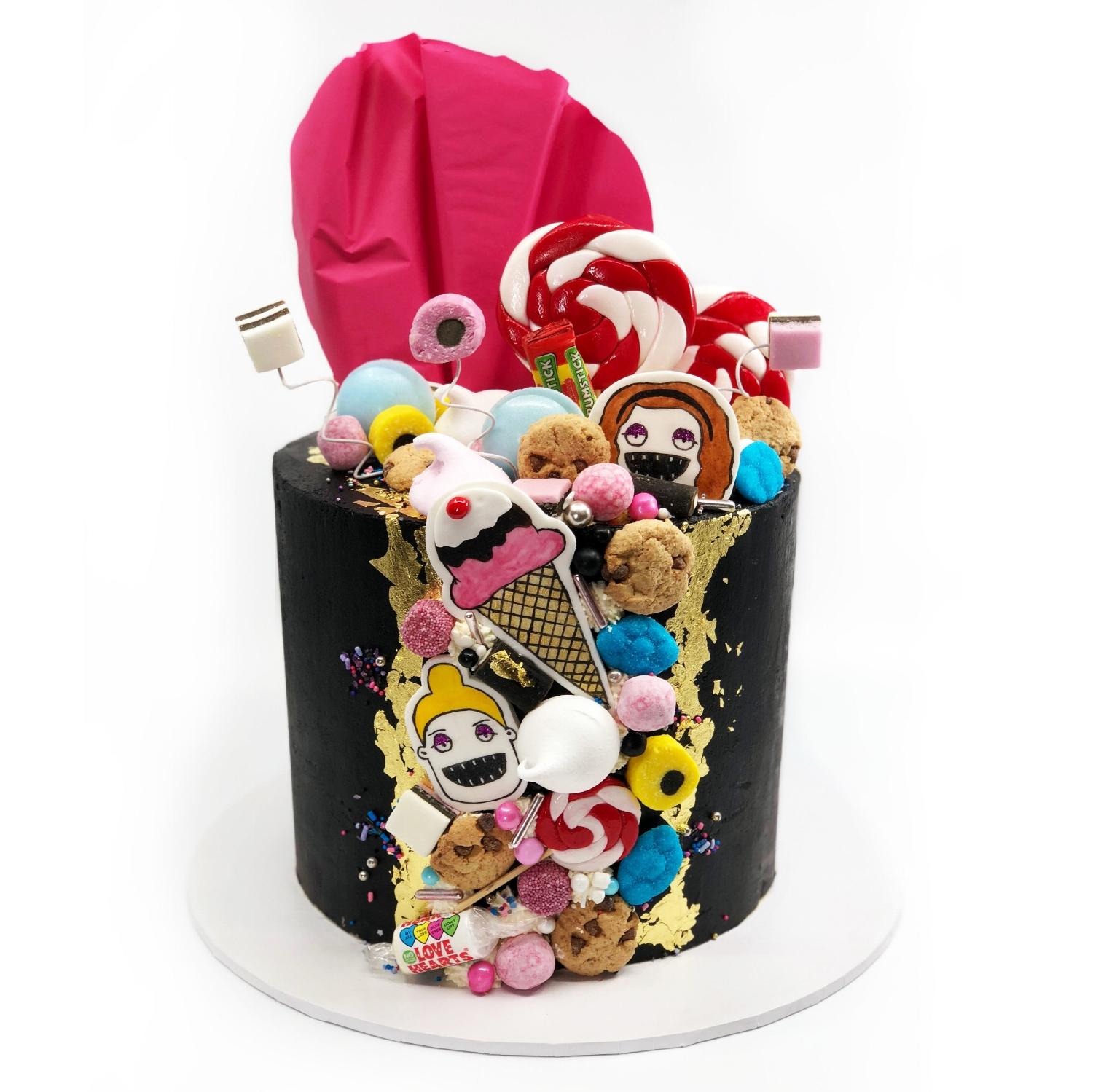 Sweets themed cake