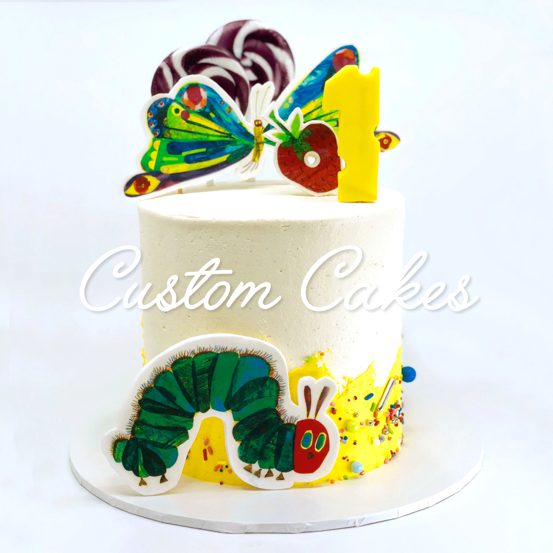 Hungry Caterpillar Custom Cake