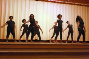 "- Rochelle Middle School dancers perform to a reading of ""Bad and Beautiful"" on April 7, 2016."