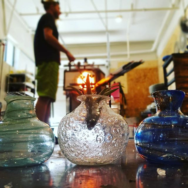 Whether you come in to make your our or buy straight from our gallery, these hand-blown vases are guaranteed to brighten up your summer table!
