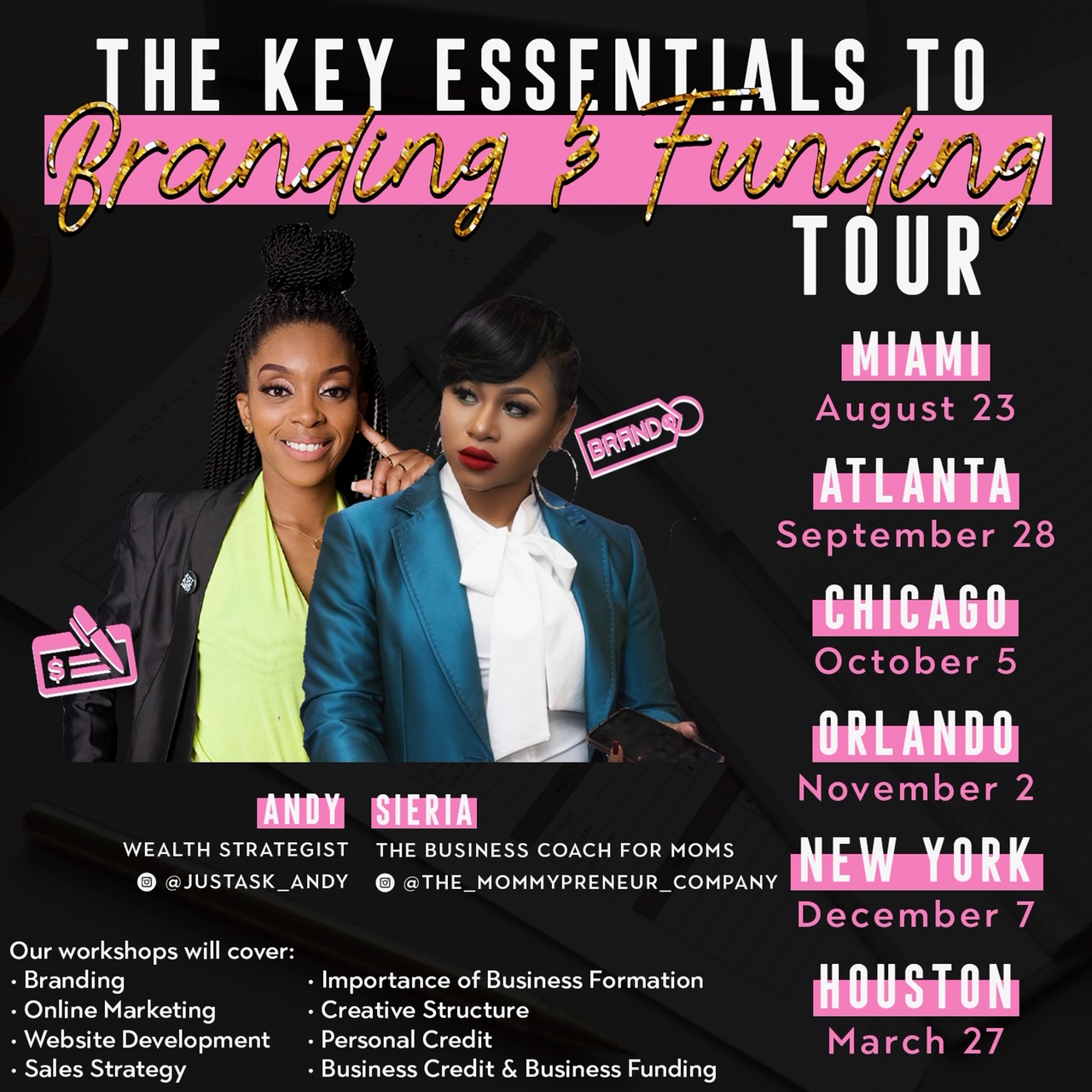 The Key Essentials To Branding & Funding Tour! -