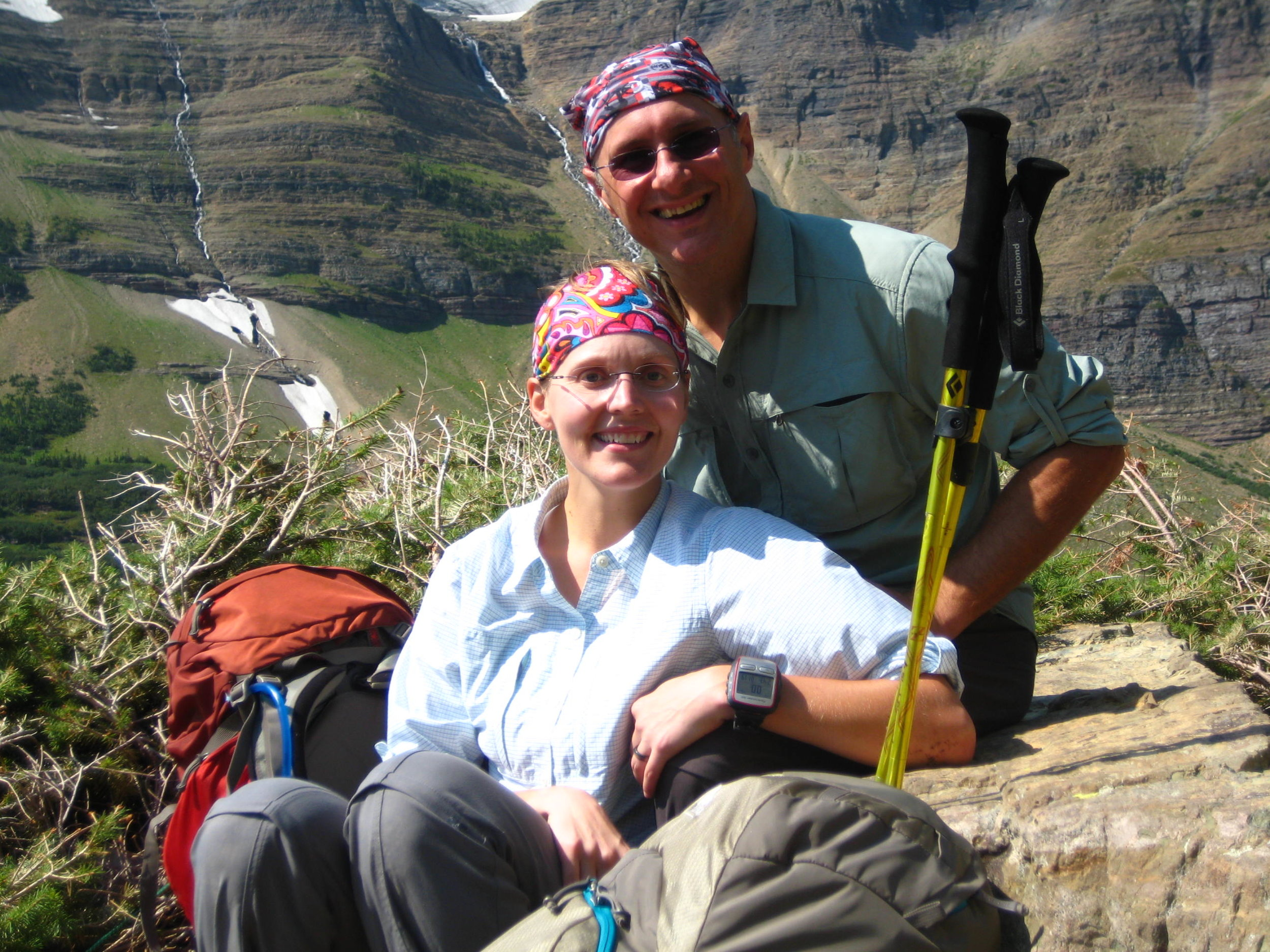 Dave & his wife, Erin, hiking in Glacier National Park