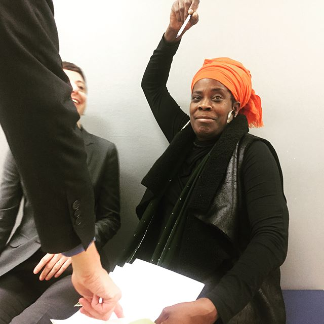 "Yesterday, after a year and a half of fighting her unjust loophole eviction, Aunti Frances victoriously signed a settlement giving her more time and relocation costs. Aunti Frances and her community closed out a long day of chanting and singing in the courtroom hallways saying ""it's not me, but we."" Yesterday's victory was proof that you can't evict community power. Today we continue the fight to #ClosetheLoopholes!  Today, Aunti Frances goes back out to the Hayward court house to sit in solidarity with Clara, an 80-year old tenant & Latinx elder who is being evicted from her home of 28 years through the same duplex triplex loophole the Morphys used against Aunti Frances. Aunti Frances and her supporters met Clara yesterday, sitting across the corridor from each other in the courthouse amidst the community chants.  Thank you all for your powerful energy and solidarity thus far. This victory comes with relief and gratitude, and the fight is also far from over. Stay tuned for more info about how to support Aunti Frances, #ClosetheLoopholes and #HousingJustice for all. #DefendAuntiFrances"