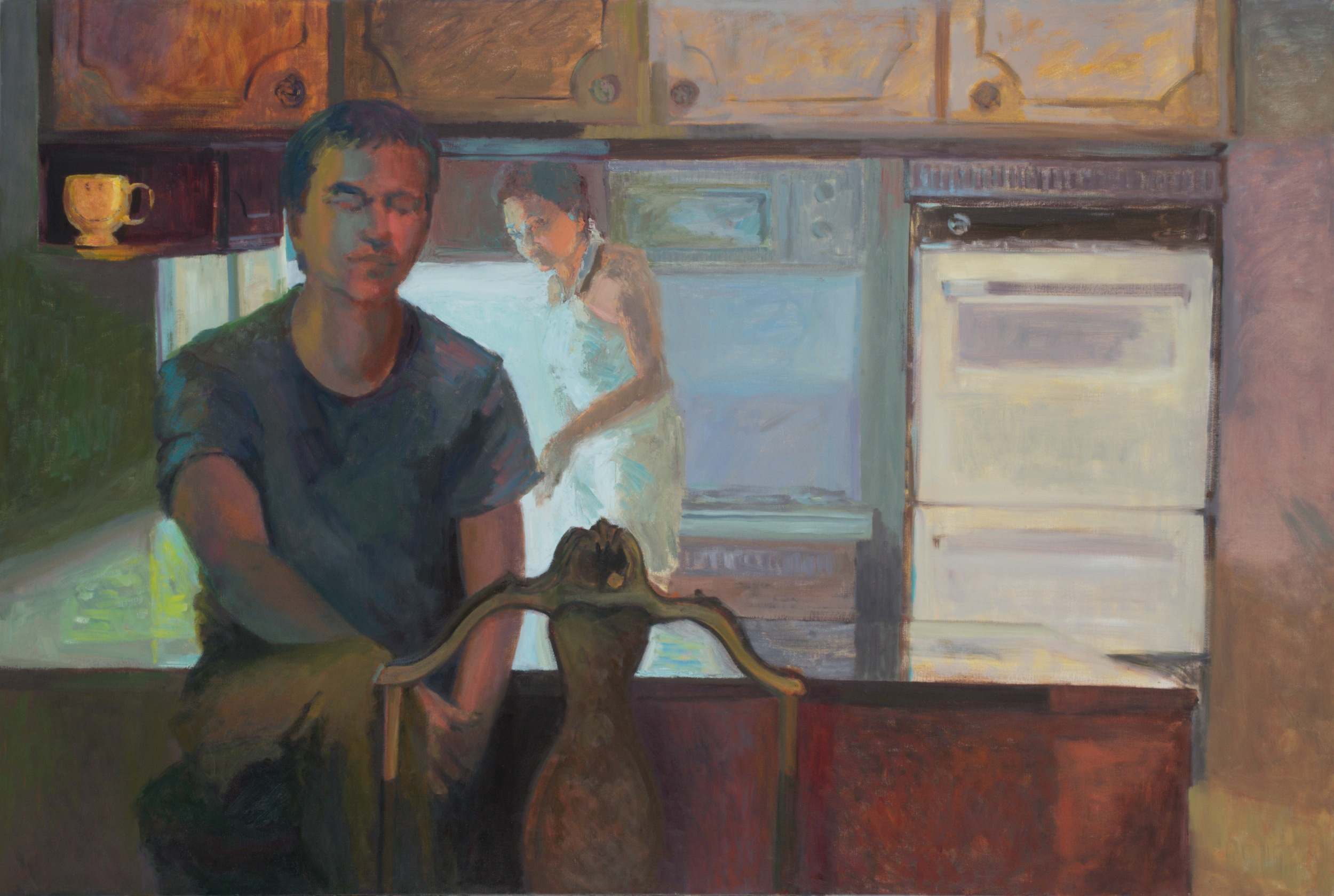 """with the sun dreaming old battles    (oil on linen)   48""""x72"""""""
