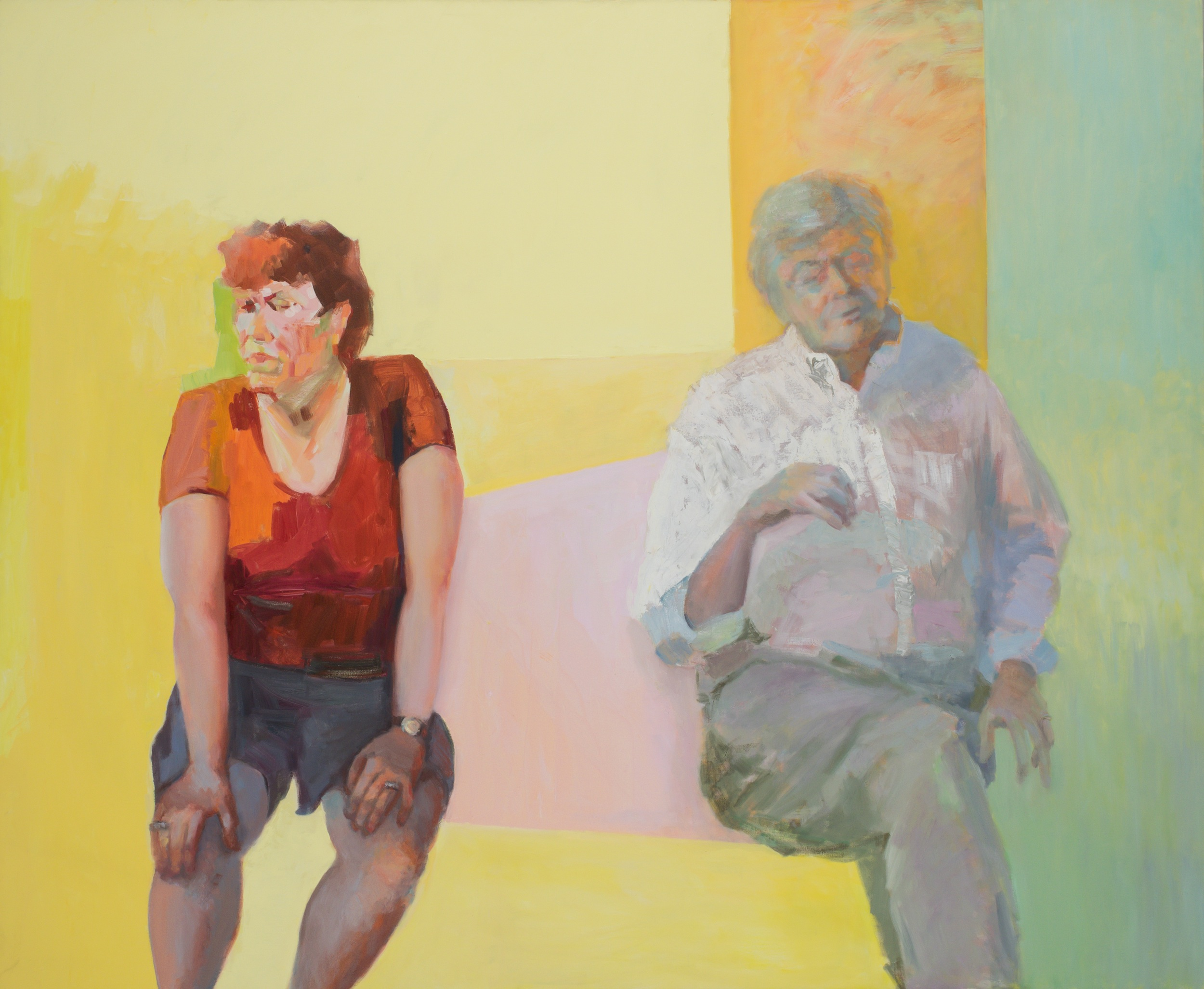 """I wanted yellow singing and the sun    (oil on canvas)   60""""x72"""""""