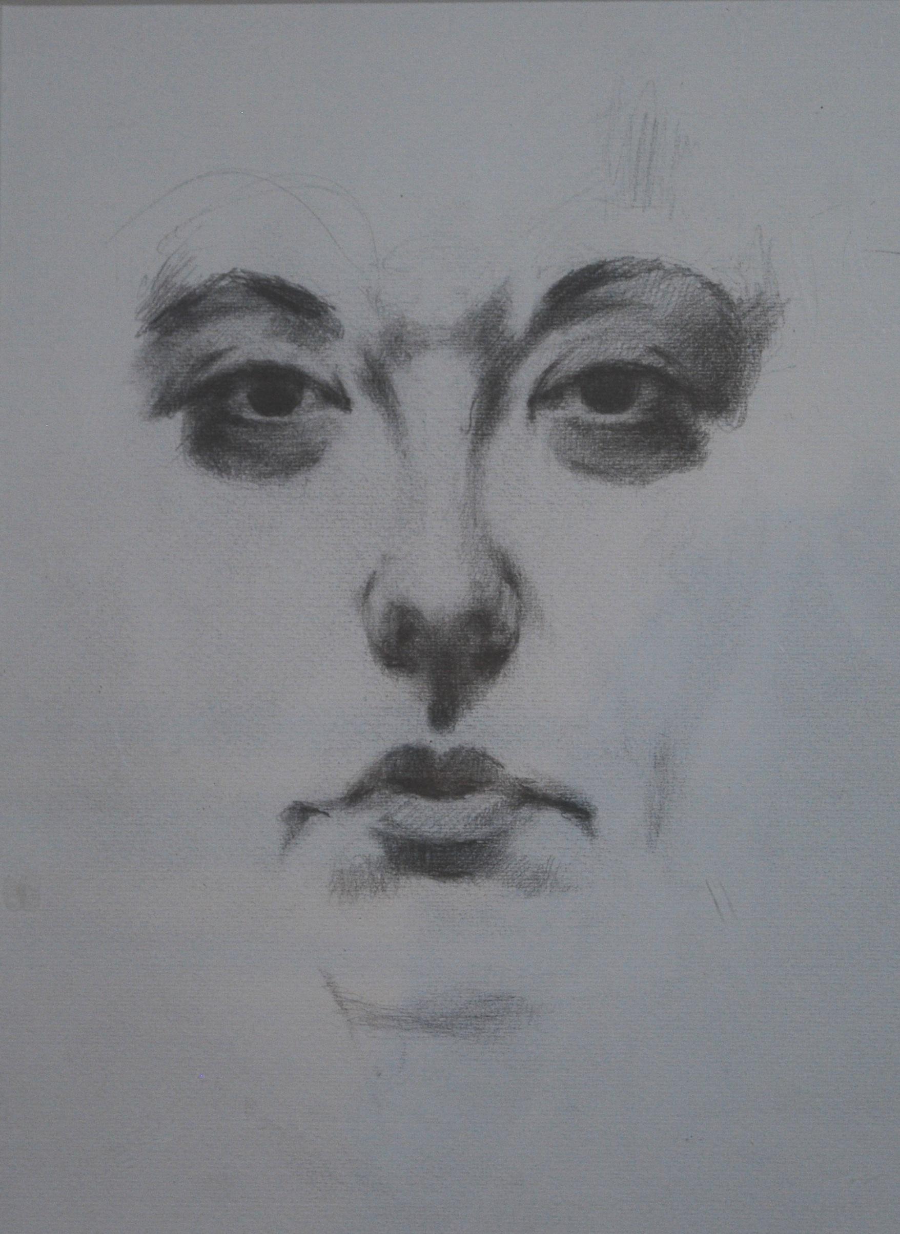 """Self-portrait  (pencil on paper)  8.5"""" x 10.5"""""""