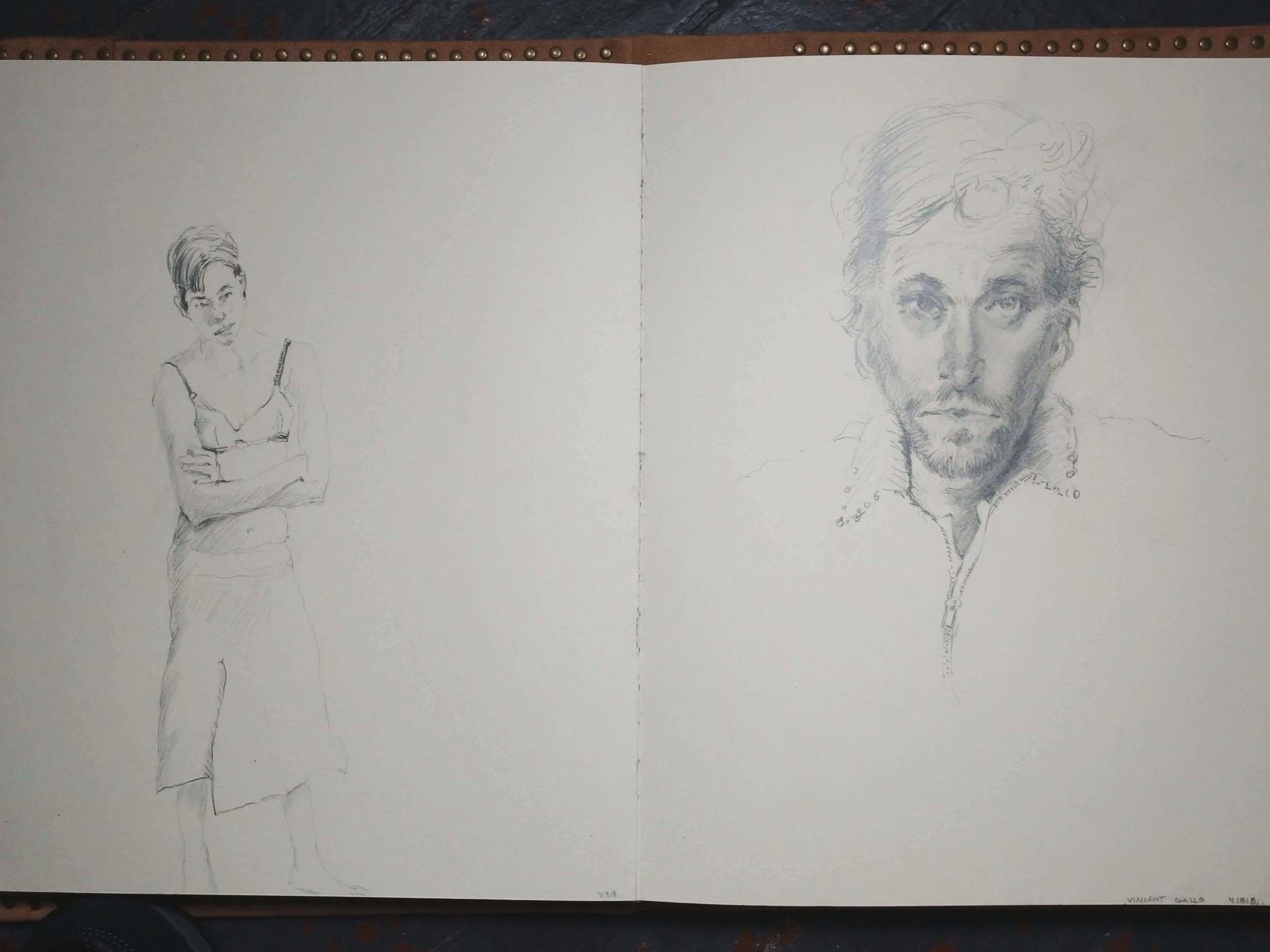 "(pencil in sketchbook)   22"" x 14"""