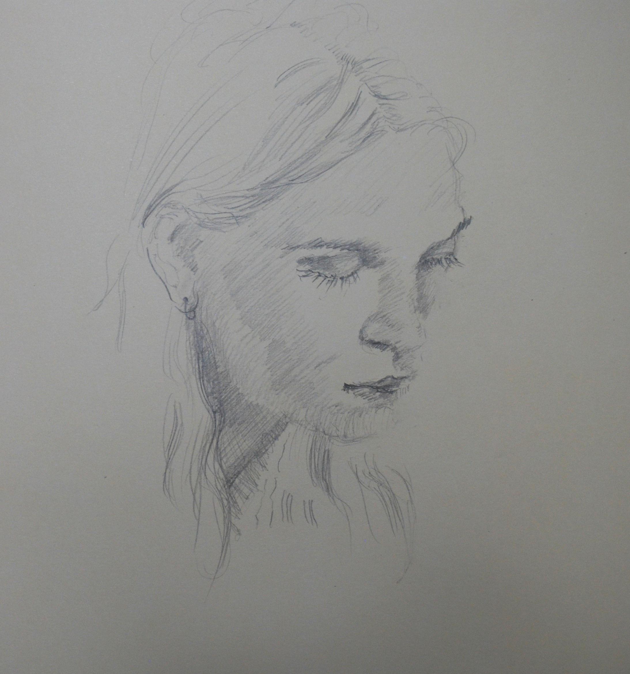 "(pencil in sketchbook)  11"" x 14"""