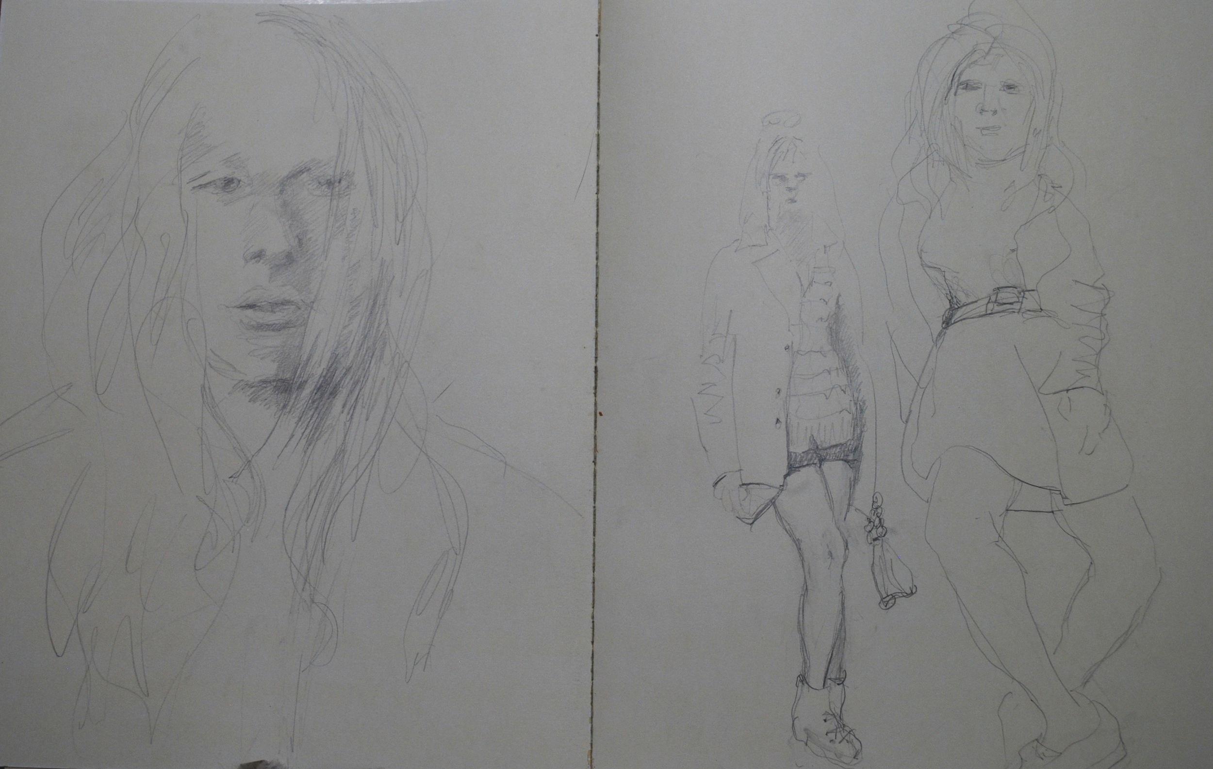 "(pencil in sketchbook)  22"" x 28"""