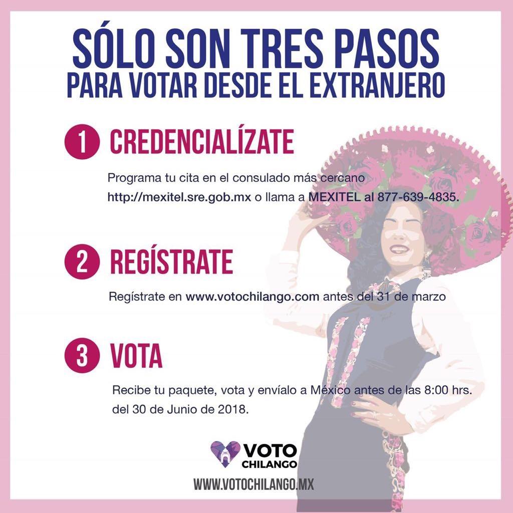votar desde el extranjero