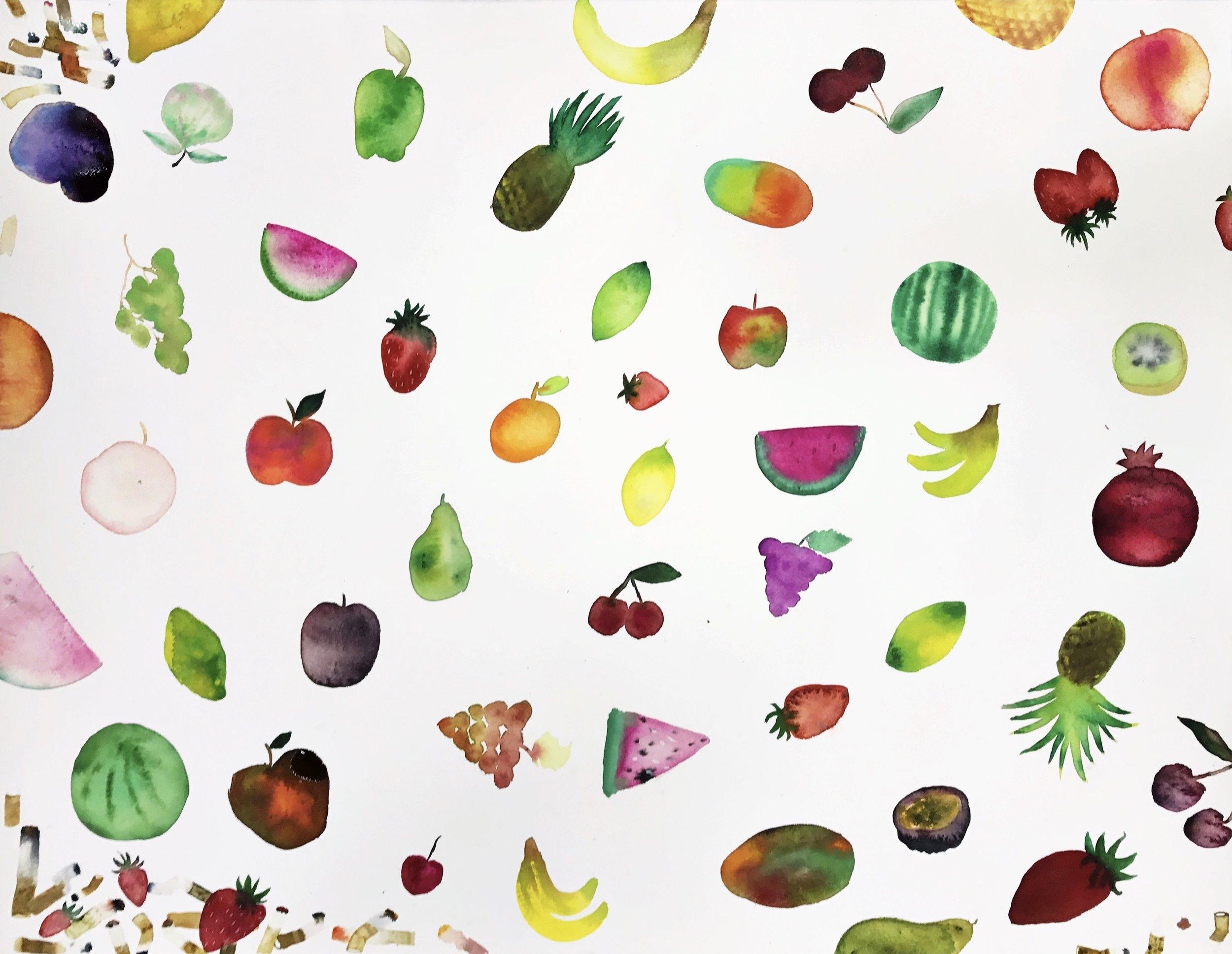 Eating Fruit And Smoking Cigs