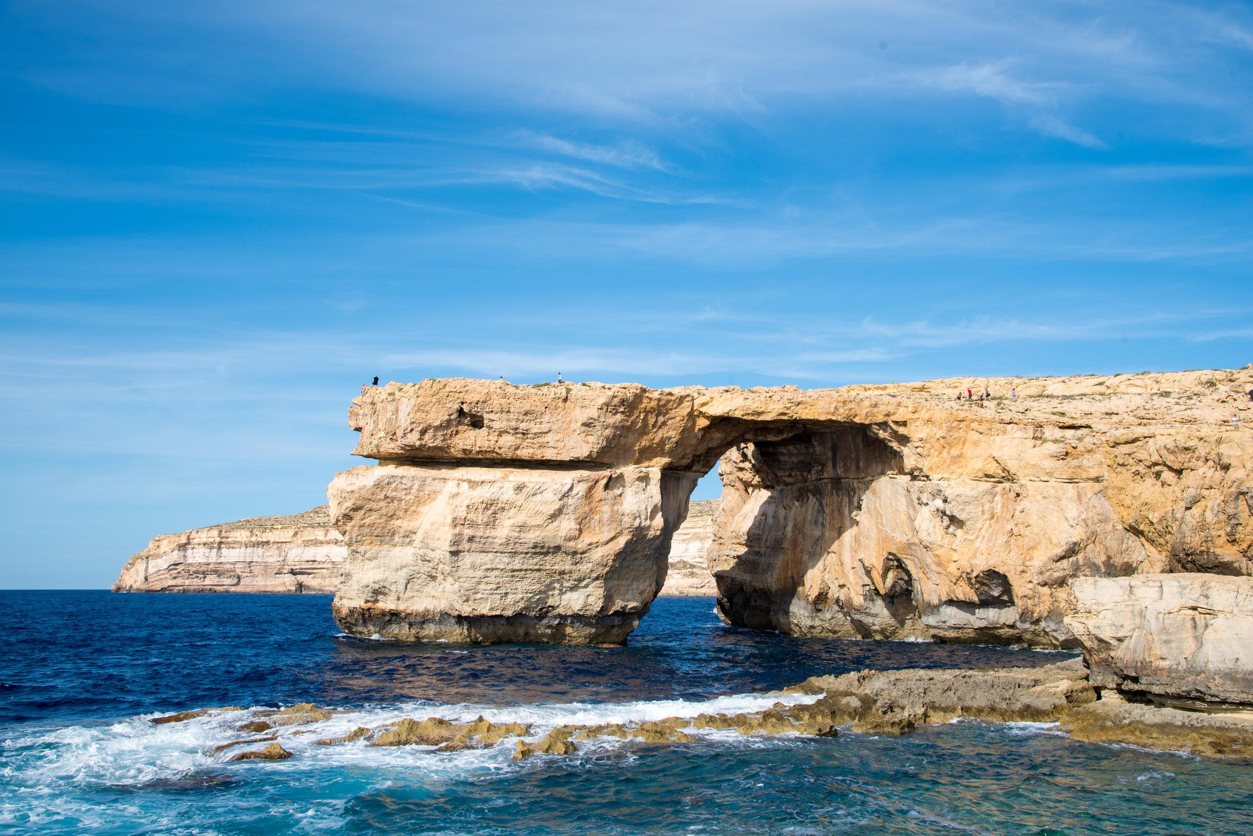 The Azure Window on Gozo Island