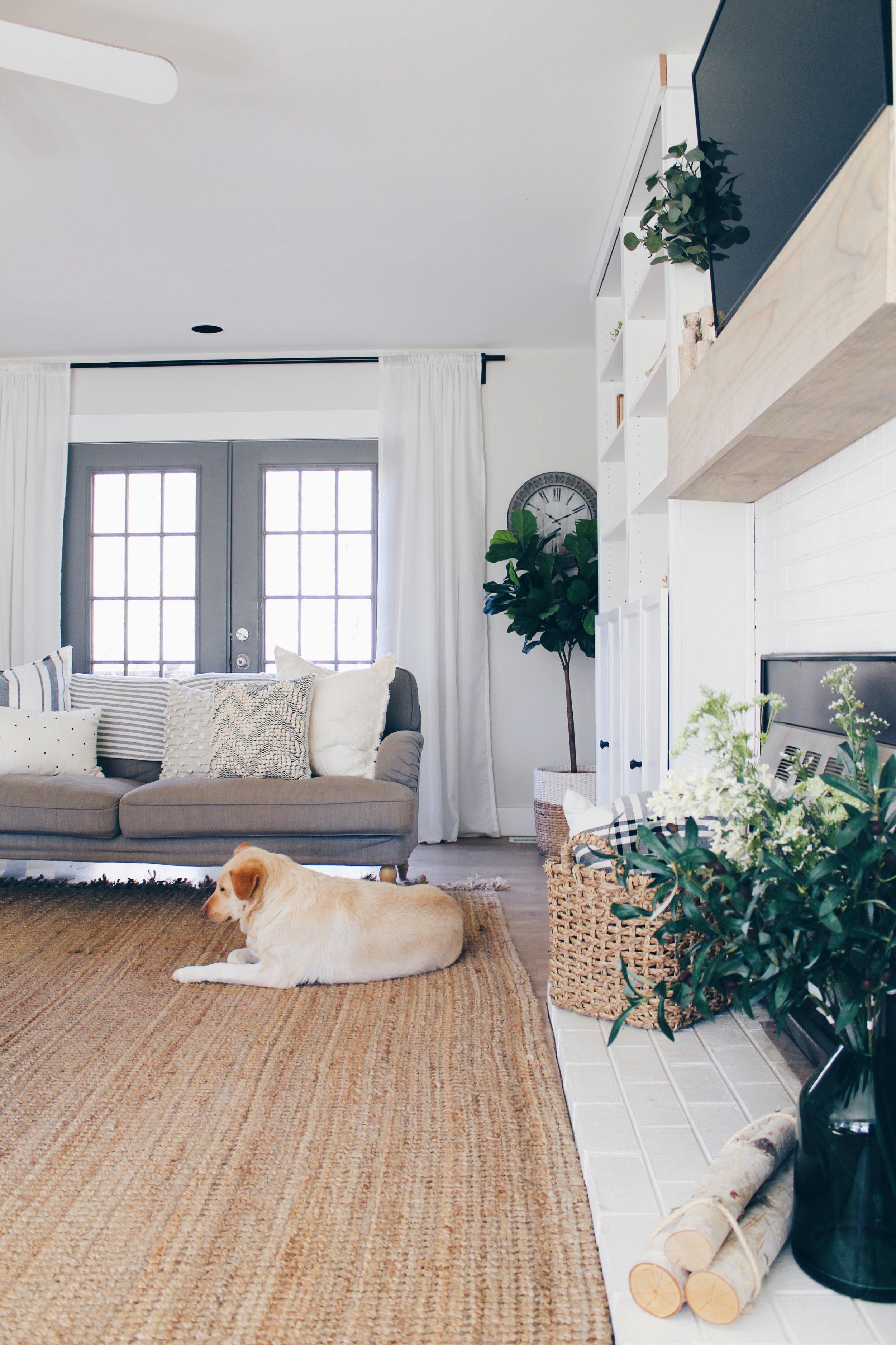 door color: Benjamin moore Chelsea grey, rug: rugsusa.com, curtains: ikea, vivan.