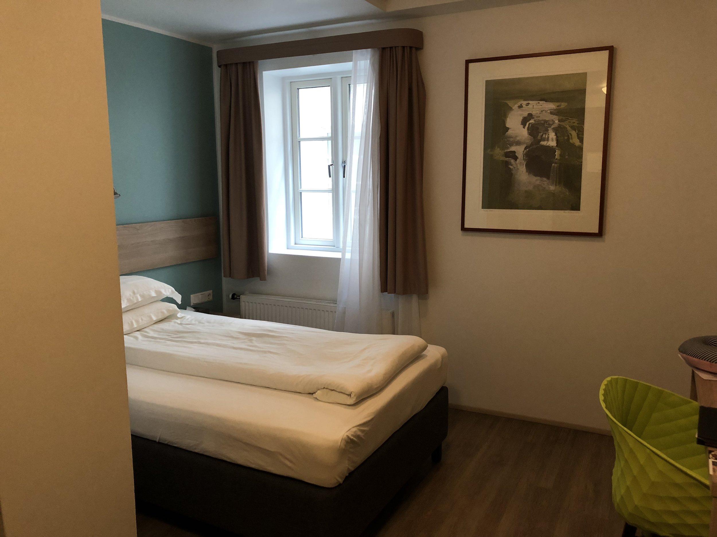 My hotel room at CenterPlaza Hotel