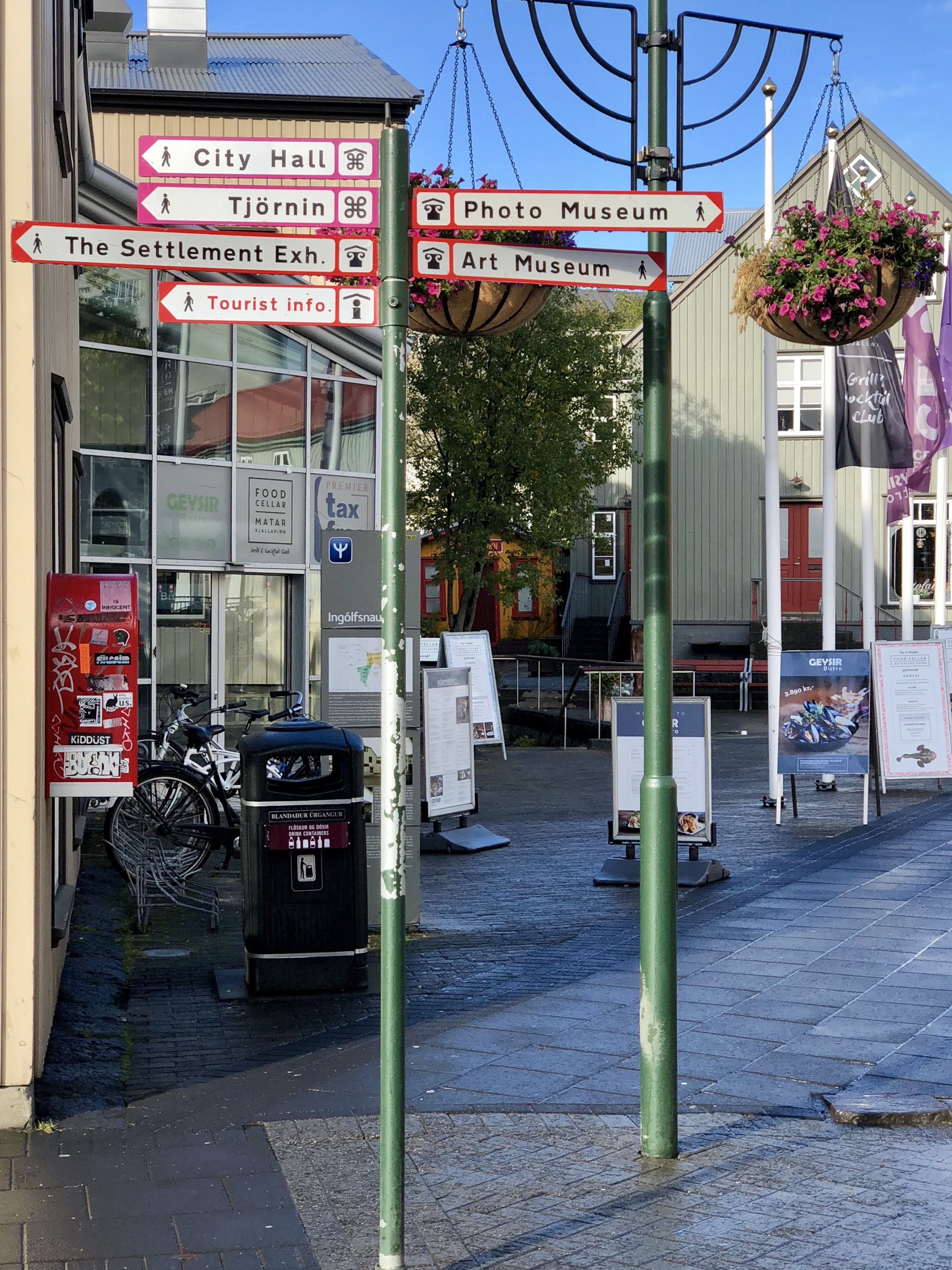 Corner of the street my hotel is on. Ironically, the oldest street in Iceland.
