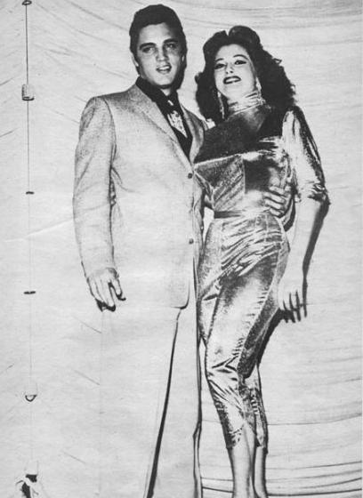 Tempest Storm with Elvis Presley