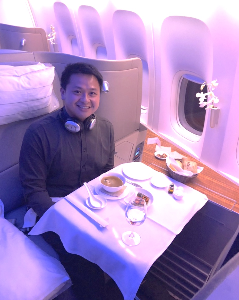 Cathay Pacific First class experience in pajamas