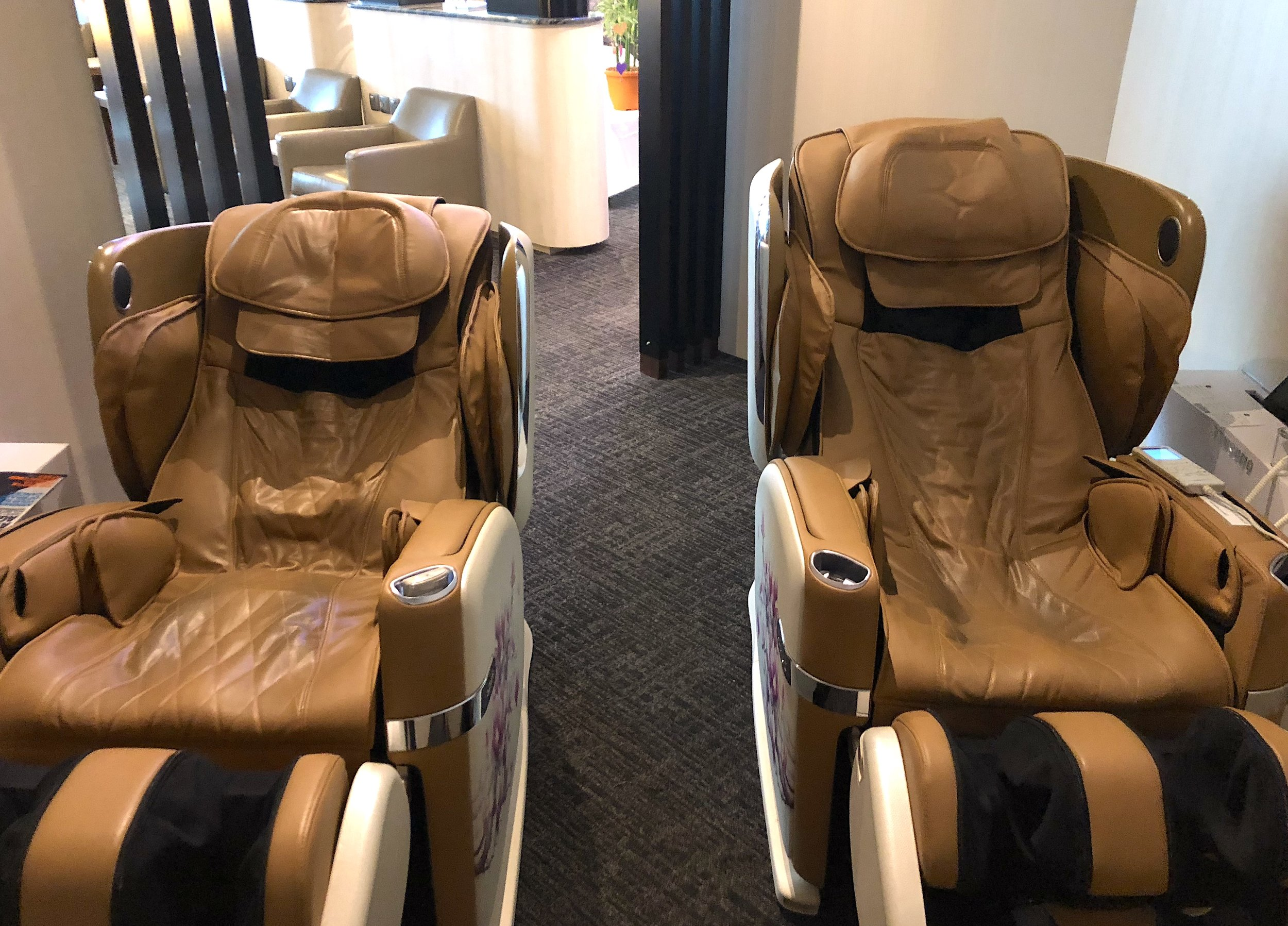 Surprise! Massage chair available for use. I dozed off using the massage chair.