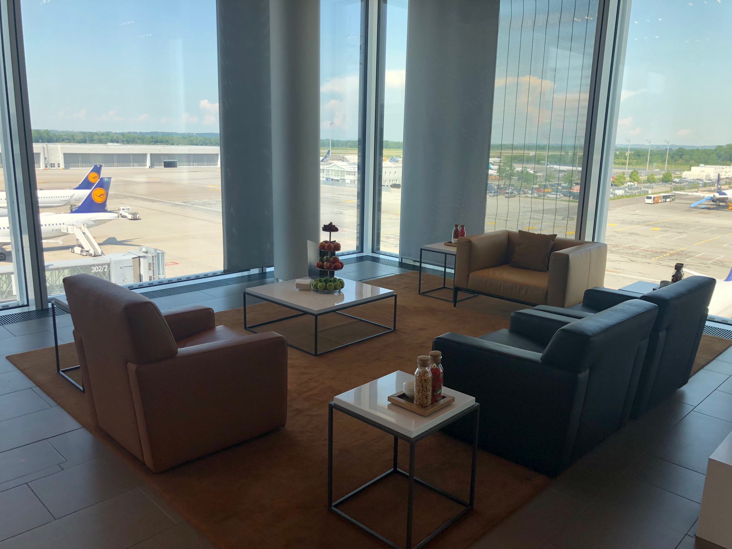 Lufthansa First Class Lounge Munich Seating Area