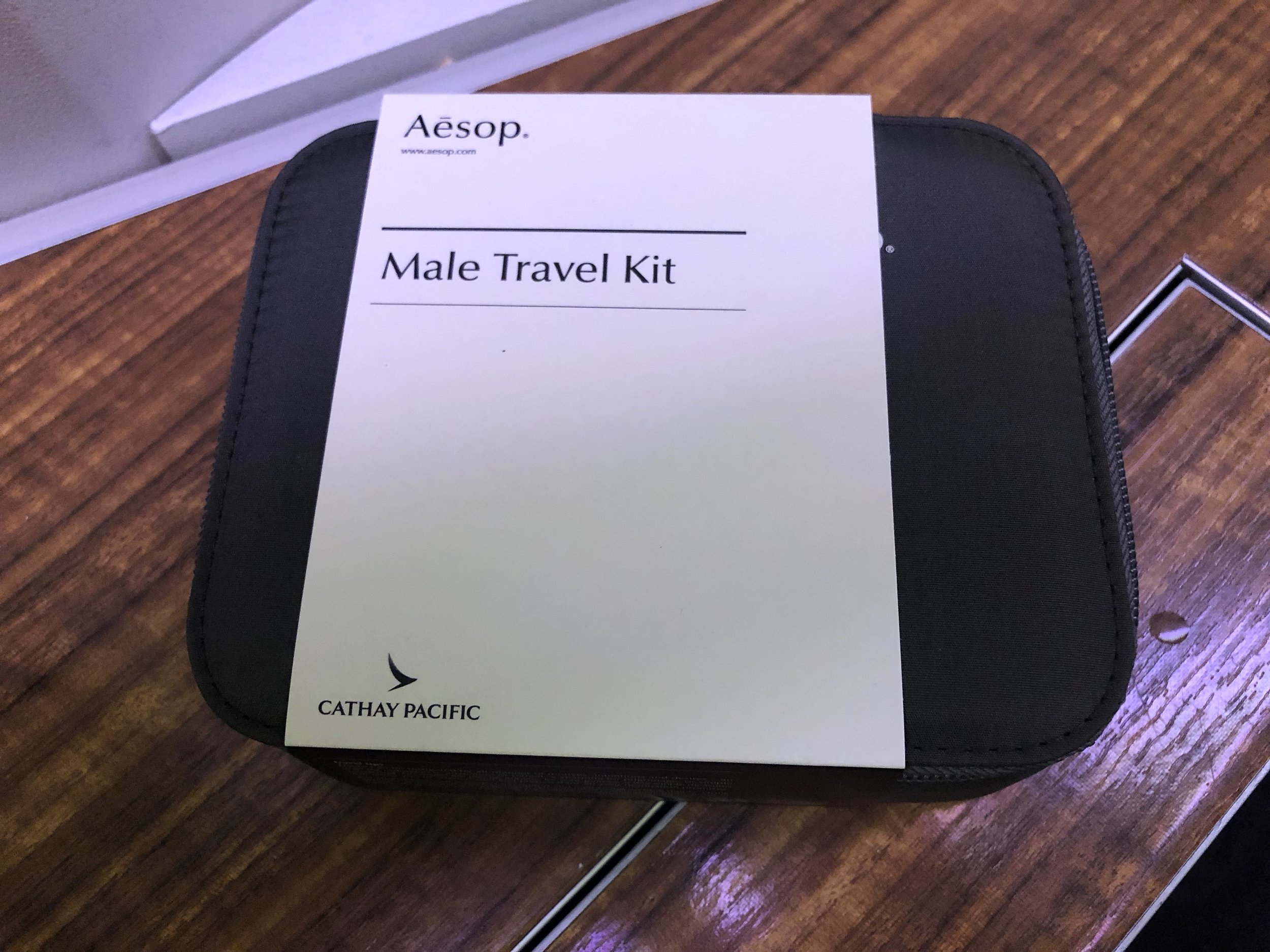 Male travel amenity by Aesop