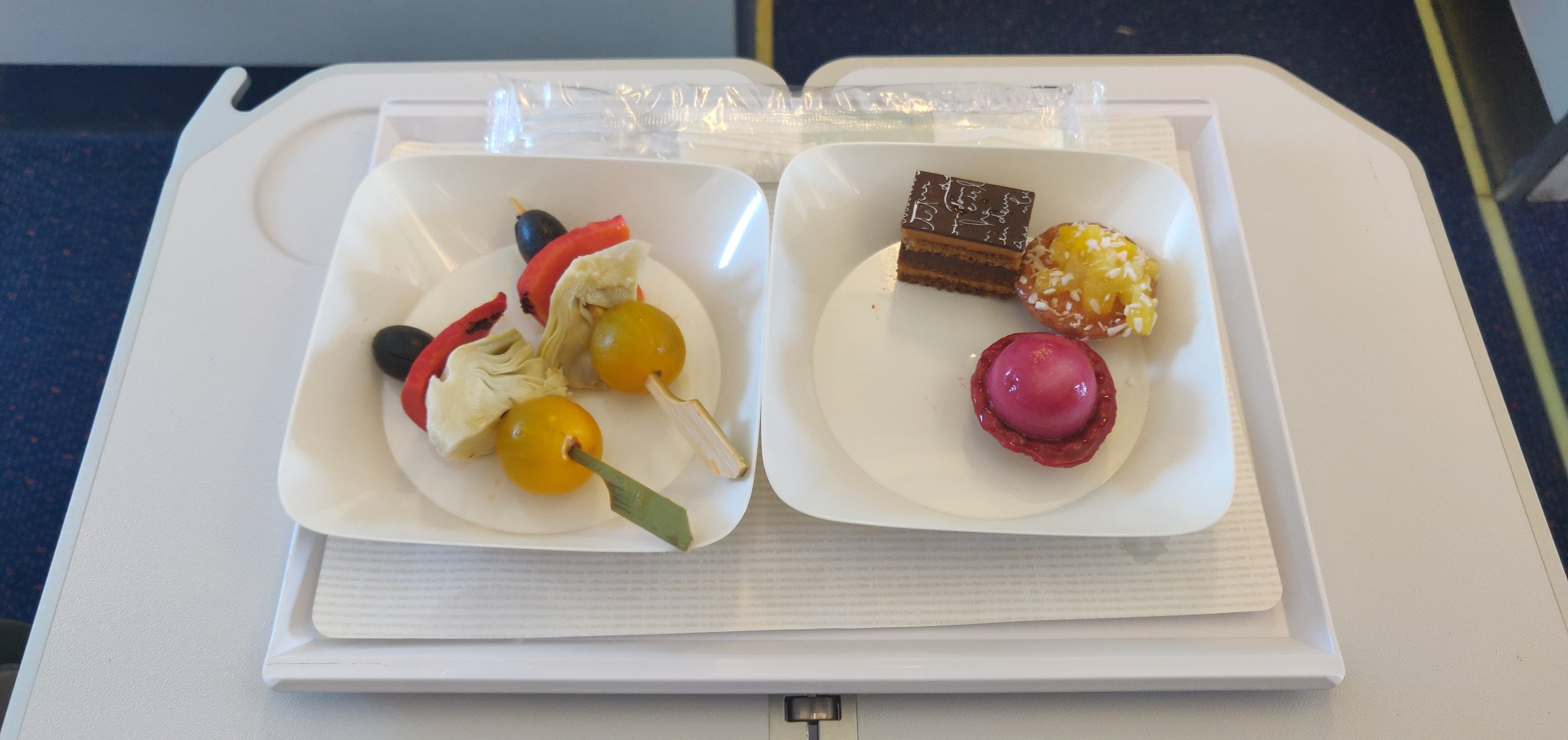 Brussel Airlines Business Class A320 - Tapas