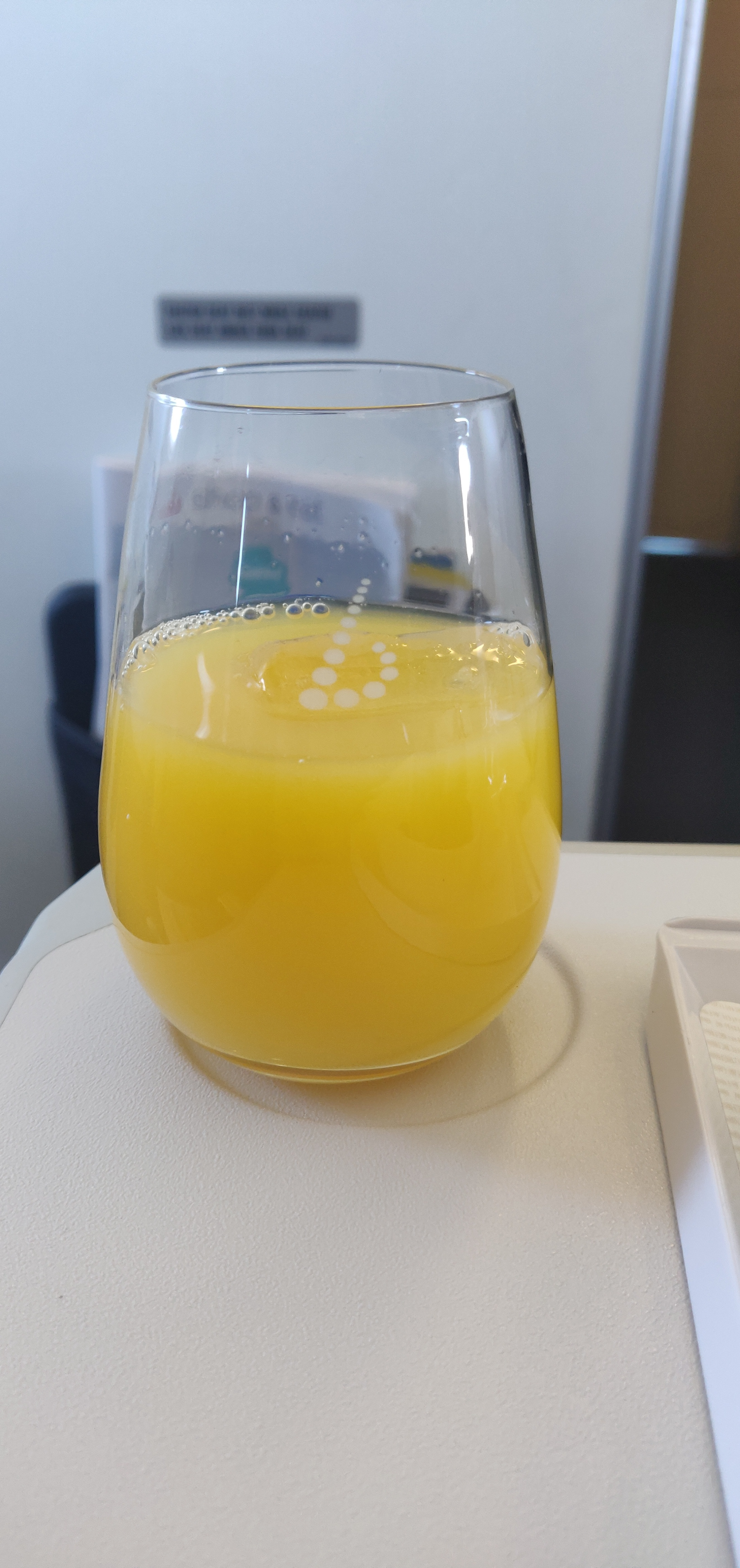 Brussel Airlines Business Class A320 - Welcome Drink